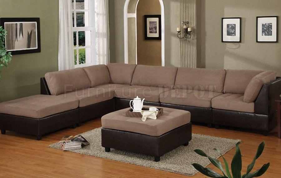 Superbe Modular Sectional Sofa Microfiber