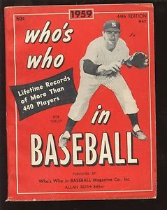 1959 Whos Who In Baseball Bob Turley New York Yankees Front Cover Ex Ebay Baseball Baseball Injuries Baseball Series