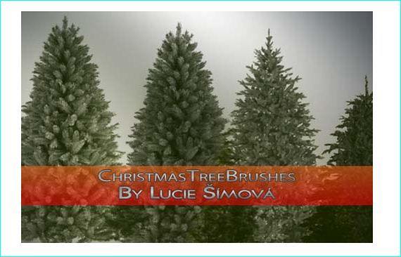 Free Christmas Trees And Decoration Brushes For Photoshop Tree Photoshop Holiday Design Free Christmas