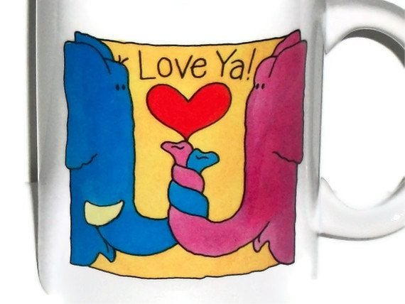 Ceramic Coffee Mugs - Valentines Day, Love and Easter Sayings - Ready to Ship. $9.00, via Etsy.    Love is in the air. Check Out Post On Valentine's Day Coffee Mugs for More Original Coffee Mugs (http://dailyshotofcoffee.com)