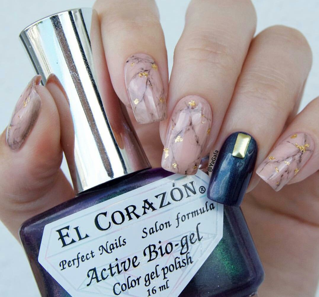 Nude marble nails   ♡Cute Polish♡   Pinterest   Marble nails, Nail ...