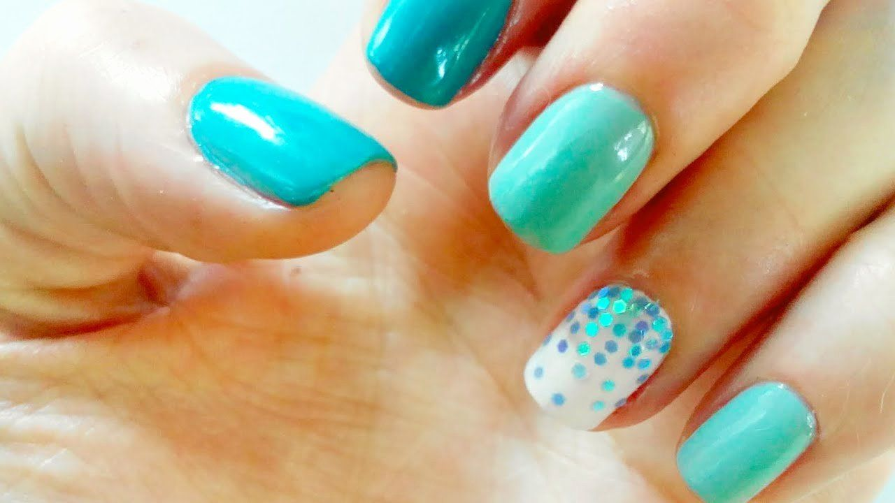 Nail Design for Short Nails Unique Nail Art Blue Ideas 2016 for Short Nails for ...