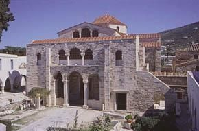 Ekatontapyliani Church, the church of 100 doors. Parikia the capital of Paros Greece