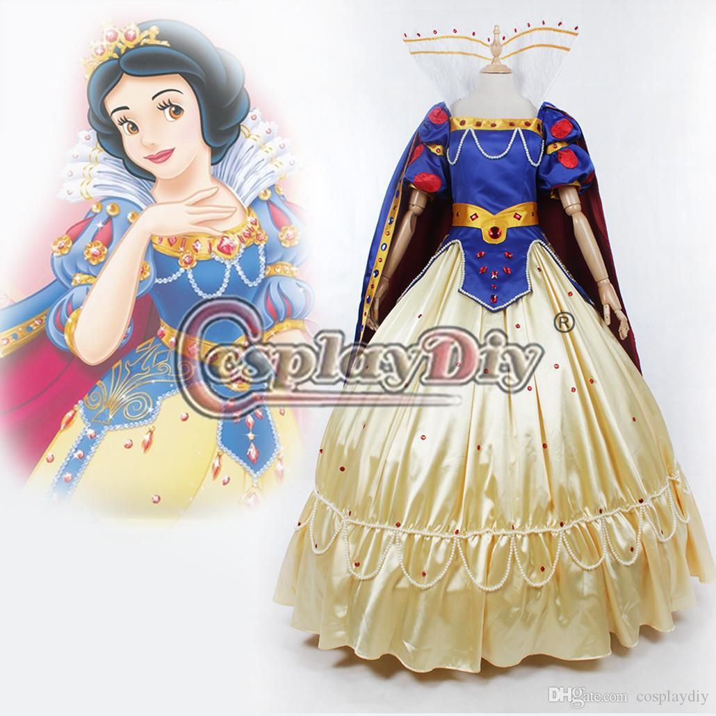 d7b049dd6 Snow White Princess Costume Deluxe Dress Halloween Masquerade Party ...