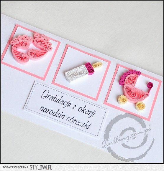 Bellísima tarjeta para nacimiento! filigrana Pinterest