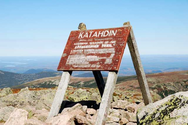 Mt. Katahdin Northern Terminus of the Appalachian Trail.