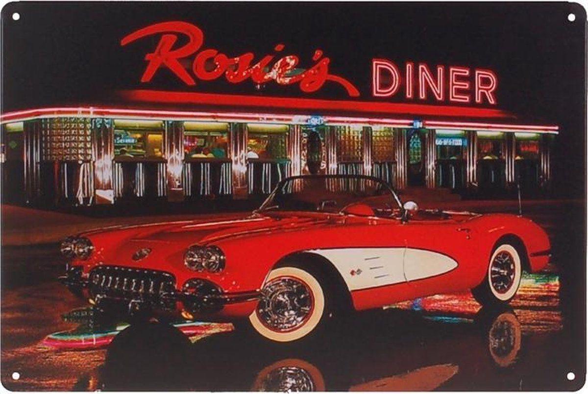 Metalen Plaatje Rosie S Diner In 2021 Antieke Auto S Oude Auto S Vintage Auto S