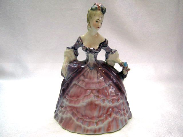 "VINTAGE ORIGINAL GOLDSCHEIDER MADAME POMPADOUR by PEGGY PORCHER FIGURINE 6"" TALL"