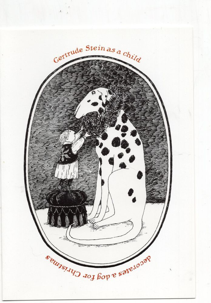 Edward Gorey, Gertrude Stein as a Child, Christmas Card, Dalmation ...