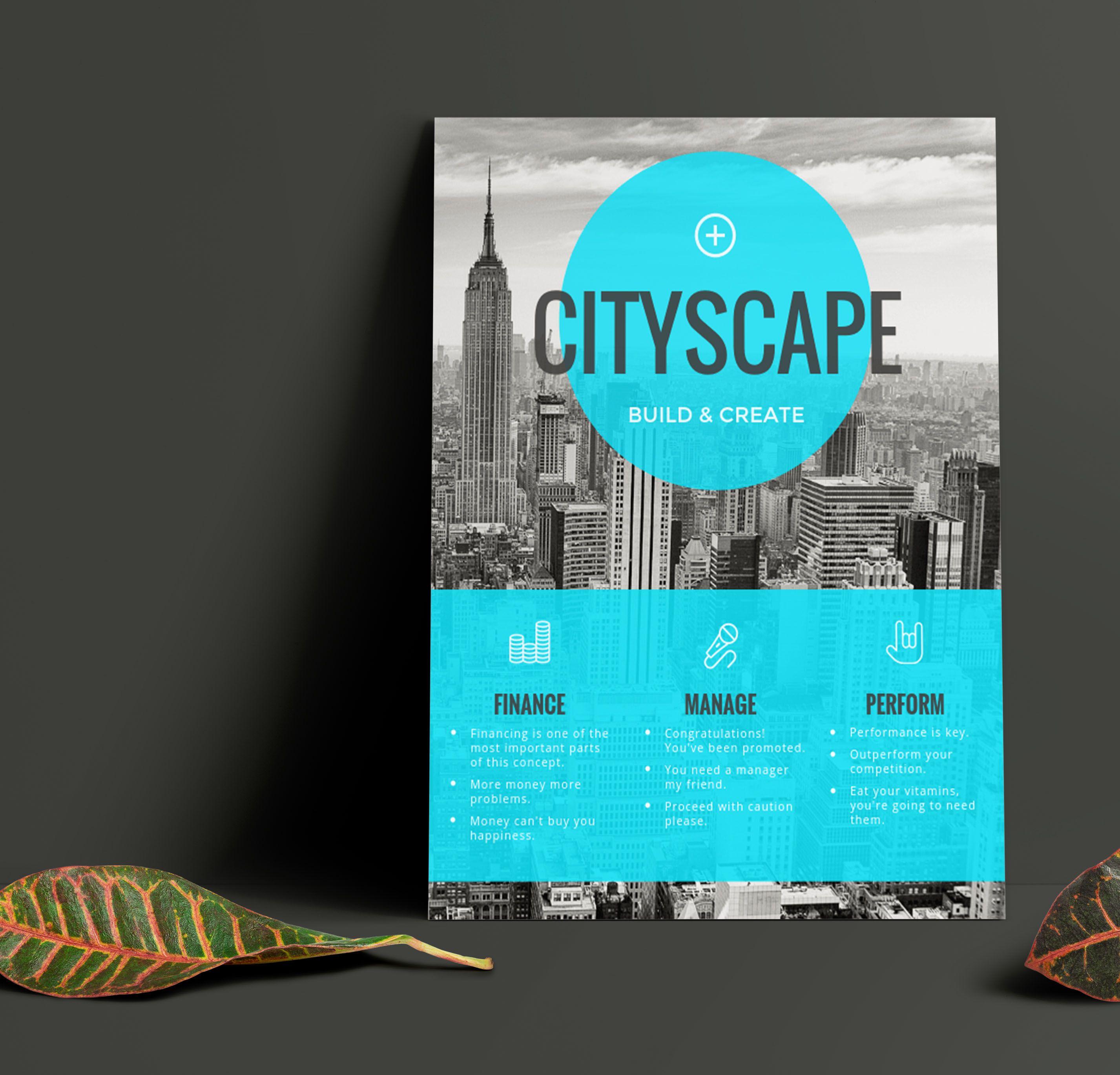 Simple Blue Transparent Real Estate Flyer Idea - Venngage ...