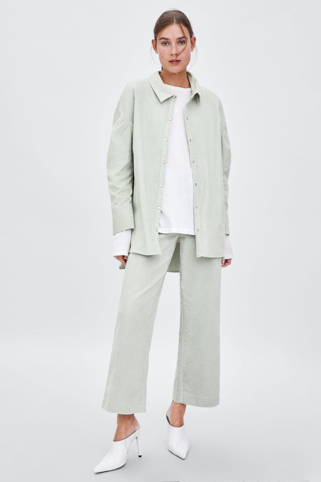 ee3201c8 Oversized corduroy shirt | fashion | Fashion, Corduroy, Shirts