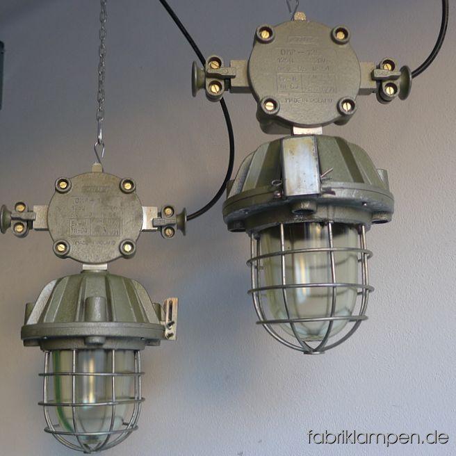 Alte Seltene Bunkerlampe Mit Robuster Verteilerdose Und Ohren
