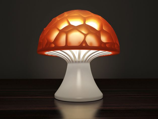 Voronoi Mushroom Lamp By Markellov Thingiverse Lampen 3d Prints 3d Druck