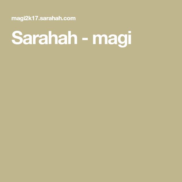 Sarahah - magi