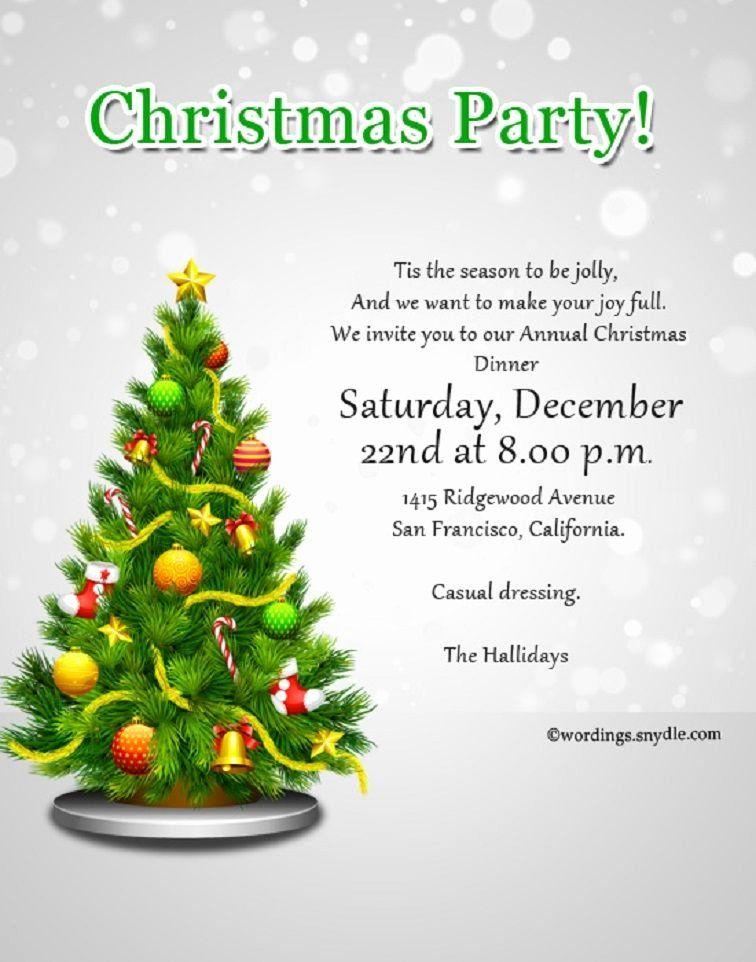 Sample Christmas Party Invitation Fresh Christmas Party In 2020 Christmas Party Invitation Wording Christmas Eve Party Invitations Elegant Christmas Party Invitations