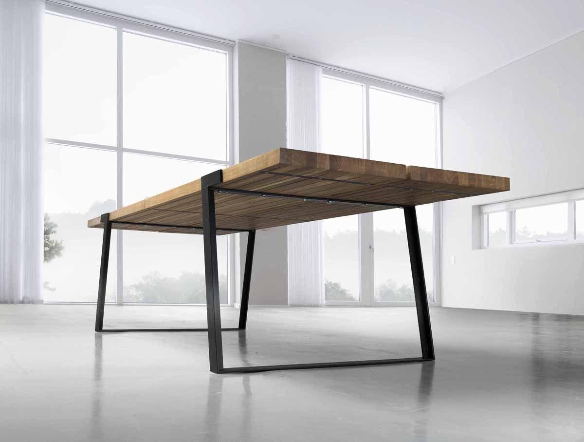 Tisch design  Essen kommen! Design Esstisch GIGANT Wildeiche Stahl | Living ...
