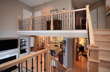 Best Canadian Maple Hard Wood Matching Maple Handrail W Iron 640 x 480