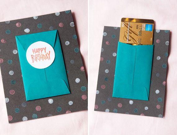 Gift card birthday card when im feeling crafty pinterest gift card birthday card solutioingenieria Choice Image