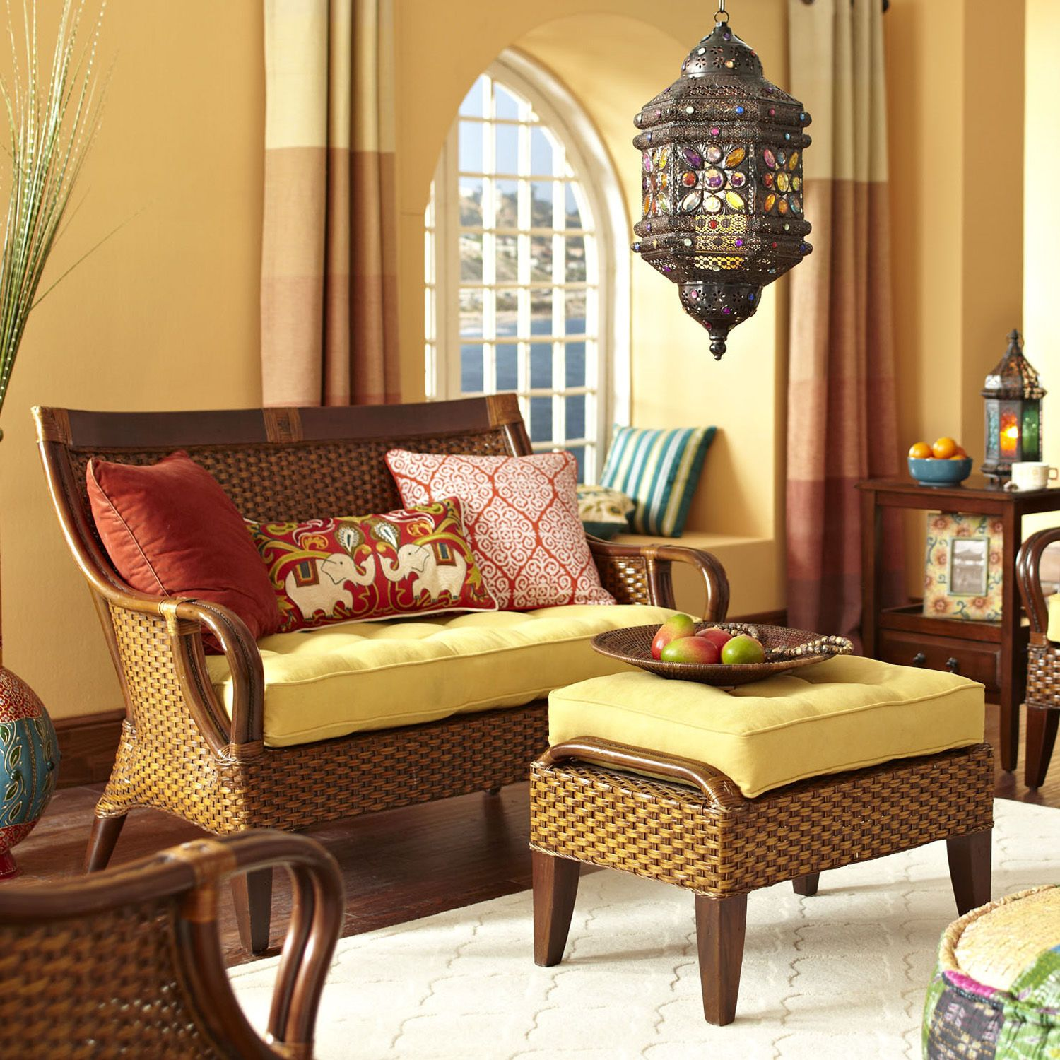 Temani Settee Brown Pier  Imports  House Pinterest - Pier 1 living room