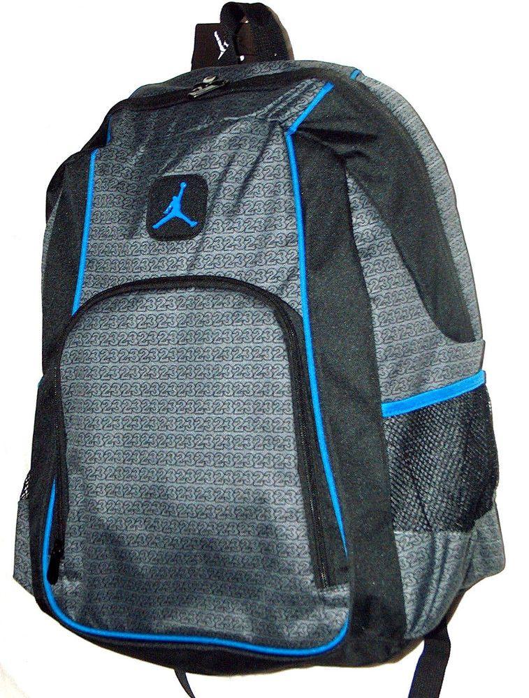 8149af6db2 NEW Nike Air Jordan Jumpman Flight Laptop Bottle  23 Design School Backpack  Bag  fashion
