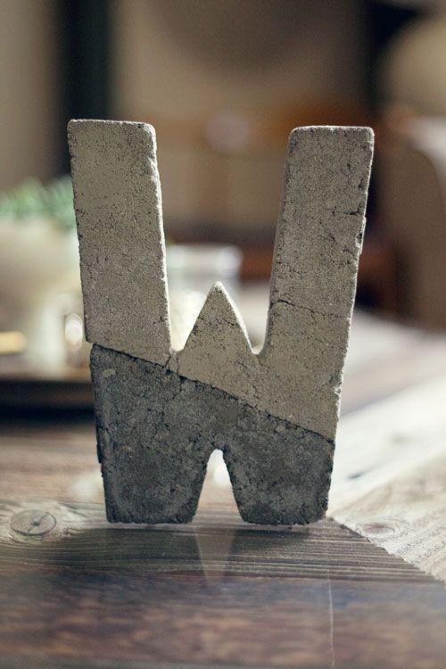 DIY Concrete Letter   Wit & Whistle   House ideas   Pinterest ...