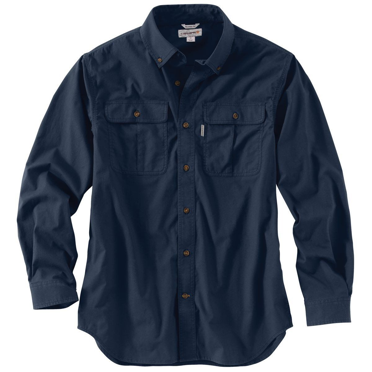 Carhartt Mens Navy Foreman Solid Long Sleeve Work Shirt Products