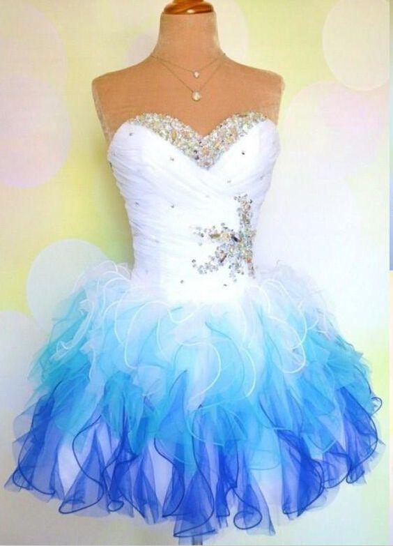 Lovely Sweetheart Sleeveless Short Homecoming Dress With Ruffles Beadings  BA7709 c5f9f81a9