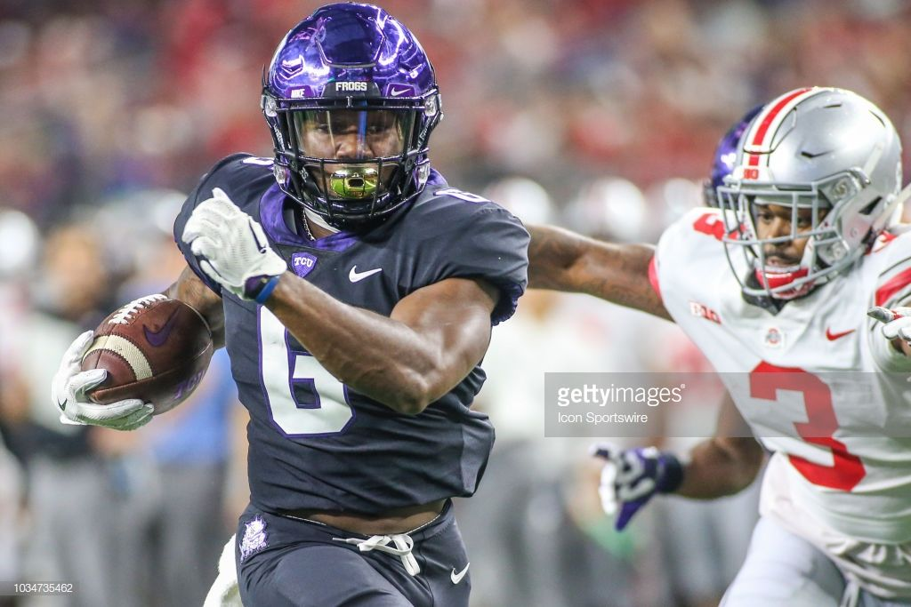 Tcu Horned Frogs Running Back Darius Anderson Runs To The End Zone
