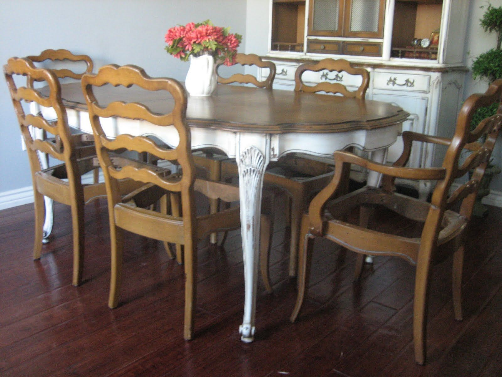 SOLD Large Solid Pecan Wood French Provincial Dining Set High FurnitureDining Room SetsKitchen