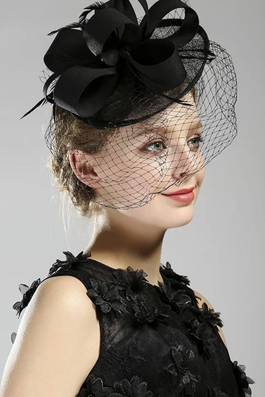 Pillbox Hat With Birdcage Net Fascinator Headband Party Headwear