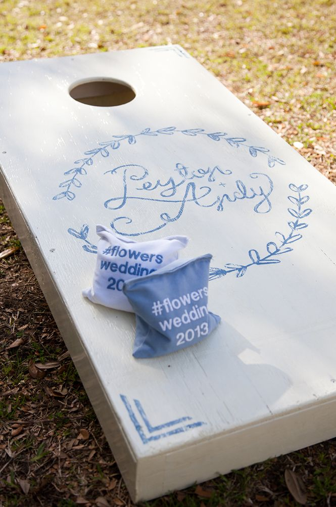 Peyton And Andy S Blue And White Wedding Wedding Kissing Games