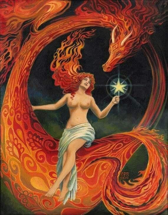 Dragon and Goddess