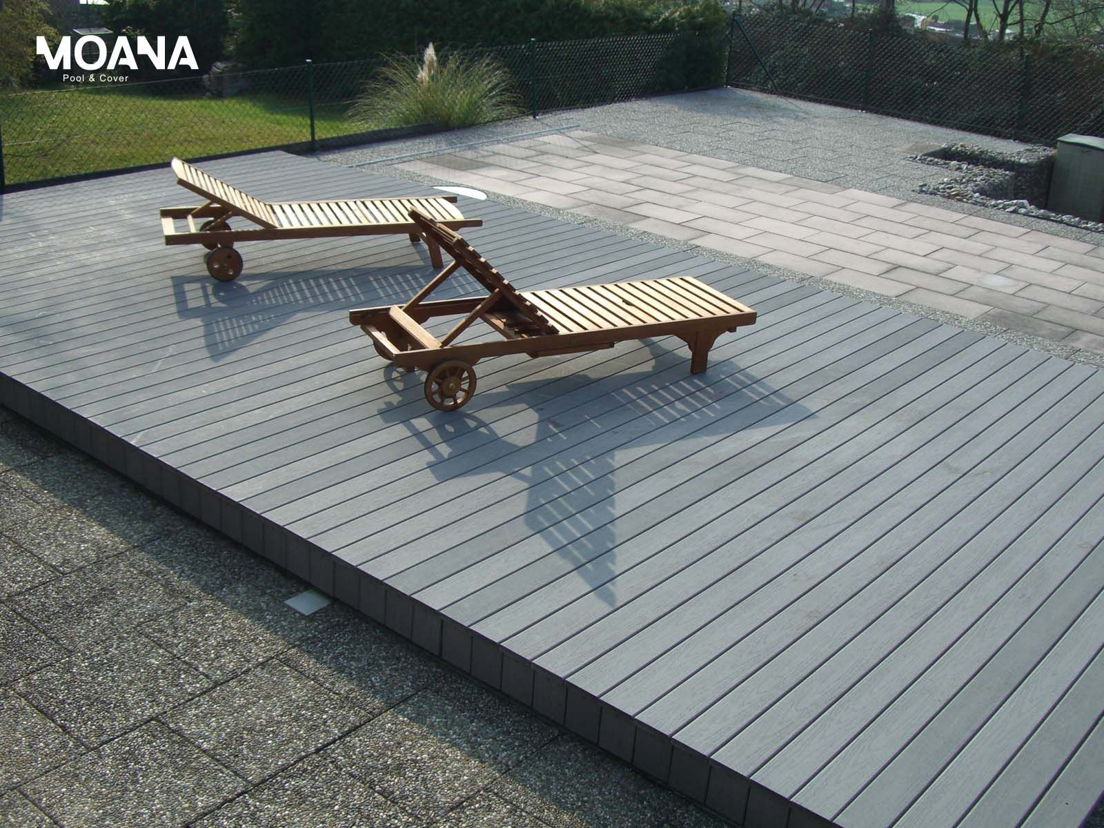 Schwimmbadabdeckung Begehbar sliding swimming pool cover and terrace movable pooldeck begehbare