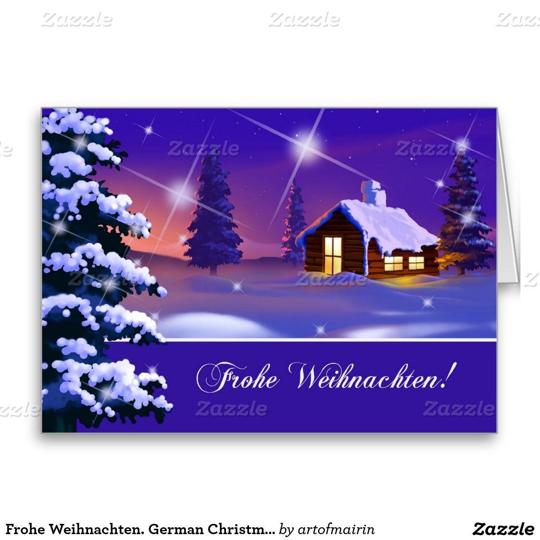 Frohe Weihnachten German Christmas Cards Silent Night