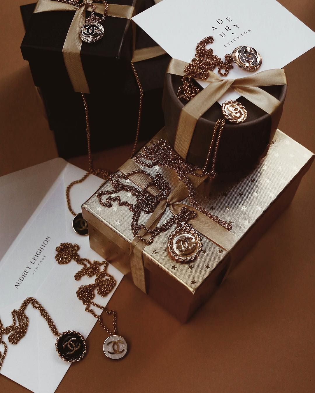 Chanel Neclaces By Audrey Leighton Vintage Brown Aesthetic Special Gifts Gold Aesthetic