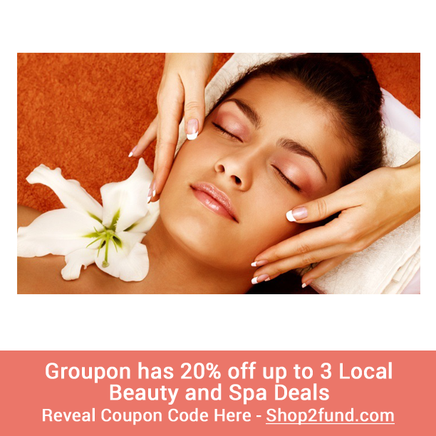 A lady can never get enough massages or facials, right? ;) FYI, #Groupon has 20% off up to 3 local Beauty and Spa Deals and its valid until tomorrow, 2/03! Reveal Coupon Code: http://www.shop2fund.com/coupon/20-off-up-to-3-local-beauty-and-spa-deals/749756/