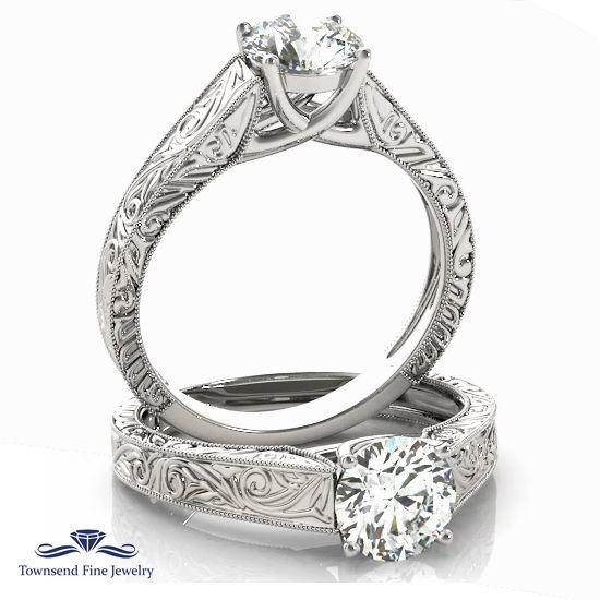 752d4517d1ff ENGAGEMENT RINGS TRELLIS Semi-Mount. Ring style  Solitaire Setting  Trellis  Gold color  White gold