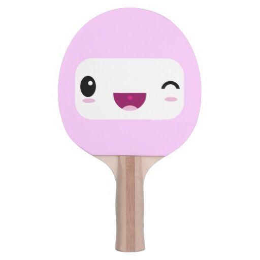 Cute Kawaii Cartoon Happy Smiley Face Ping Pong Paddle Happy Smiley Face Ping Pong Ping Pong Table Tennis