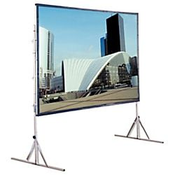 Draper Cinefold Portable Projection Screen 72 X 96 Flexible Matt White 120 Diagonal Item 585652 Rear Projection Screen