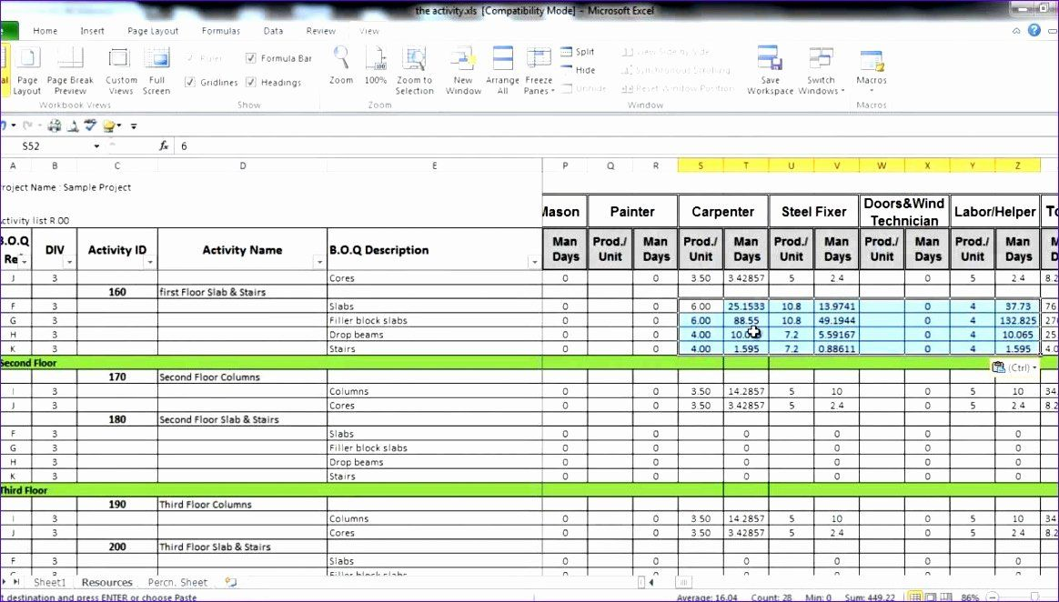 Manpower Schedule Excel Beautiful 8 Excel Manpower Planning