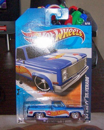 2011 Hot Wheels Custom Real Riders 83 Chevy Silverado Blue By