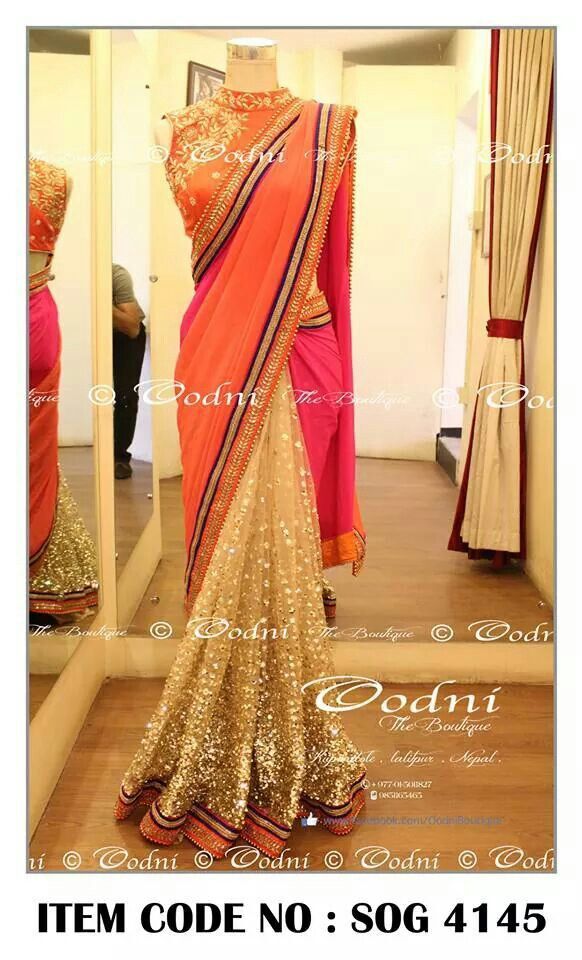 c1db0c82d44614 party wear#saree#shimmery work#oodni collection#nepal. | GORGEOUS ...