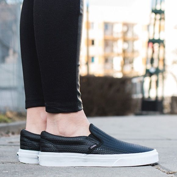 Vans Woven Leather Slip Ons | Leather