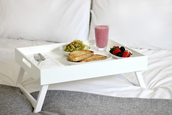 Simple White Bed Tray For Breakfast In Bed With Folding Legs Breakfast Tray Table Bed Romantic Bed Tray Table Bed Tray Table Design