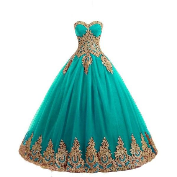 c48754a8336 Ball Dresses · LMBRIDAL Women s Lace Appliqued Sweetheart Quinceanera Dress  Ball... ( 67) ❤ liked