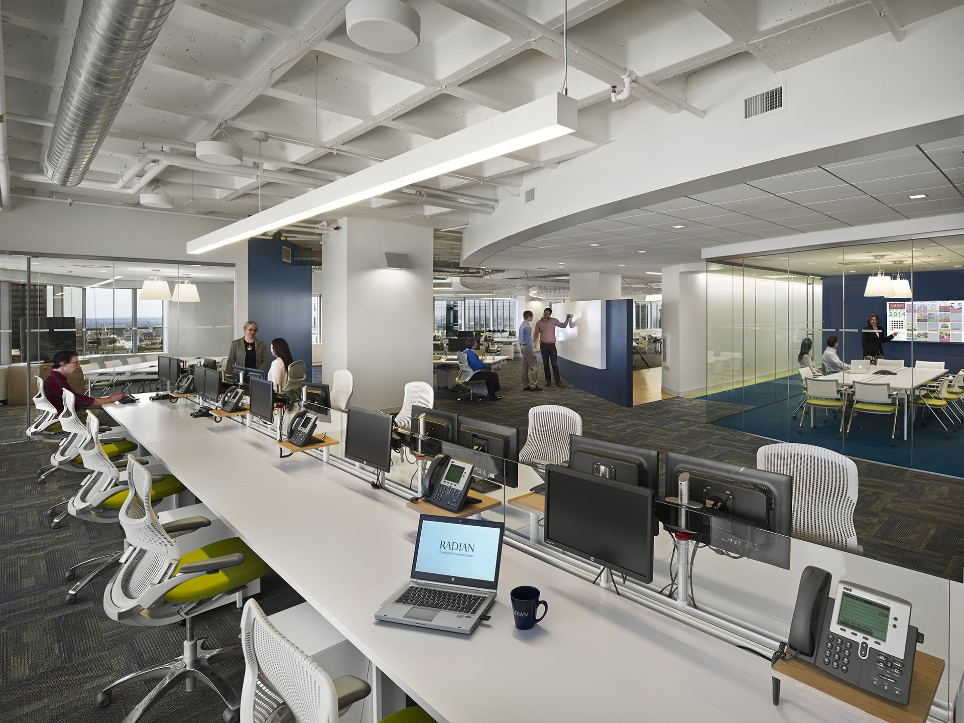 Workstations at radian designed by our philly team with - Interior design jobs philadelphia ...