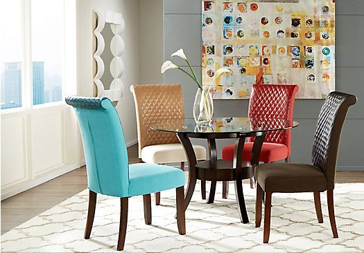 Shop For A Delacourt Merlot 5 Pc Dining Set W Brown Chairs At New Rooms To Go Dining Room Set Decorating Inspiration