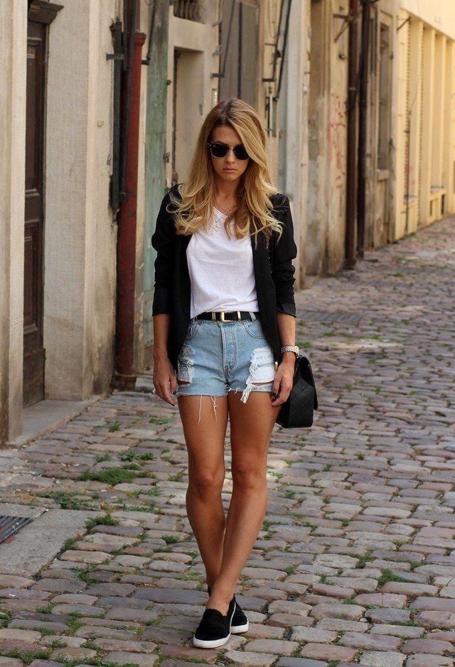64b280f1cd003 outfit shorts - Cerca con Google Cintura Alta