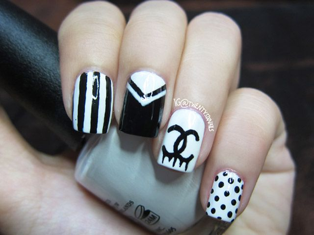 Chanel nails designs image collections nail art and nail design chanel nail art image collections nail art and nail design ideas chanel logo nail art image prinsesfo Image collections