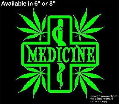 Marijuana decal medicine medical cross snake pharmacy dispensary window sticker